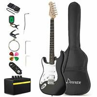 Donner Electric Guitar Left Handed Full-Size 39 Inch with Amplifier, Bag, Capo,