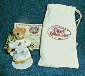 GANZ Cottage Collectibles Miniature Bear: Faith: Signed LK Free Shipping