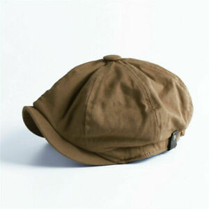Men Vintage Painter Beret Hats Summer Octagonal Newsboy Cap Cabbie Flat Hat