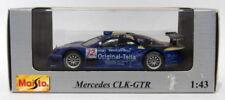 Voitures de courses miniatures bleus pour Mercedes 1:43