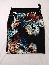 Worthington Womens Straight Pensil Skirt Multicolored Tropical Leaf - Plus Sz 18