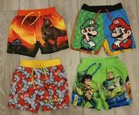 PRIMARK BOYS SUPER MARIO BROS/ TOY STORY SWIMMING SWIM SHORTS TRUNKS AGE 2 - 10