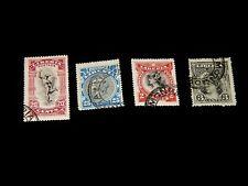 Vintage Stamp, LOT OF 4 LIBERIA USED EARLY ISSUE MERCURY, Mythology, Definitive
