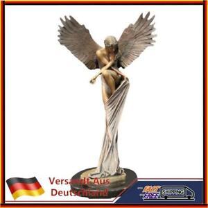 Engel Figur 3D Statuen EngelsflüGel Kunst Skulptur Dekorative Statue Vintag Heiß