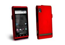 Hard Rubberized Case for Motorola Droid A855 - Red