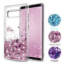 For Samsung Galaxy S10 + J7 S6 S9 Case Glitter Liquid Quicksand Clear Soft Cover
