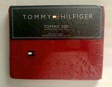 Tommy Hilfiger Full FLAT Sheet 100% Ring Spun Combed Cotton Tommy 200 RED