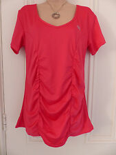 T Sport by Tom Franks pinky red sports top, ruched down the sides, size L, BNWOT