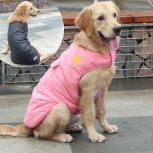 Waterproof Pink Dog Coat Jacket Water Resistant Small Large Dog Jumpsuit Clothes