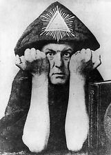 Aleister Crowley - Poster Satanism Occult Magic Golden Dawn