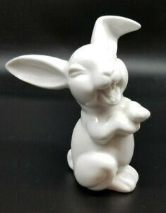 """VTG LAUGHING RABBIT Rosenthal Germany Porcelain White Figure 5"""""""