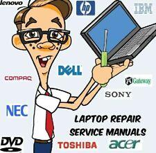 Laptop Repair & Service Manuals Major Manufacturers * Pdfs * 2 DVDs Over 1100