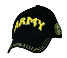 ARMY TEXT WITH LOGO ON SIDE Military Ball Cap
