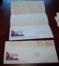 Indianapolis Checkers Hockey Club envelope post mark 1981 Fan mail order