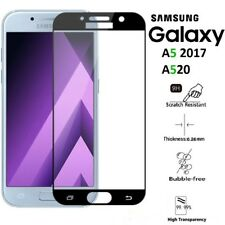 Samsung Galaxy A5 2017 [FULL COVER] 4D TEMPERED GLASS Screen Protector - Black