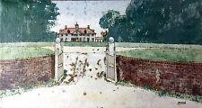 William Benecke - English Estate Mansion - Original Mixed Media - Chicago artist