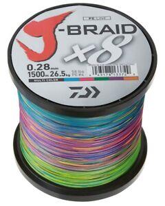 Daiwa J Braid x8 1500m Multi-coloured
