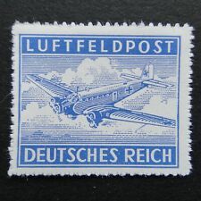 Germany Nazi 1942 1943 Stamp MNH Rouletted AIR POST Junkers 52 Transport MAP1 WW