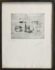 Michel CADORET 1912-1985.Composition abstraite.Eau-forte.SBD.16/25.24x32 & 65x50