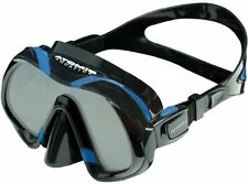 Atomic Aquatics Venom Dive Mask for FreeDiving Scuba Snorkeling Black/Blue