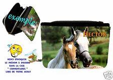 portefeuille cheval personnalisable avec prénom réf 06