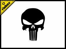 2x Punisher Skull Die Cut Vinyl Decals Stickers For Cars Windows Skateboards