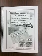 World War II Newspaper Accounts for Soldiers of Madison County, NC