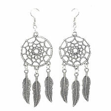 Pop Earing Fashion Jewelry Vintage Silver Plated Dream Catcher Drop Dangle BR
