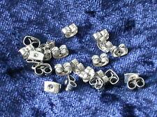 50 Ohrmutter, Ohrstopper 6 x 4 mm Silber Ohrstecker Verschluss