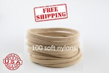 100 Nude Nylon Headbands for Bows Wholesale Nylon Headband one size fits most