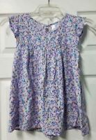 Cherokee Girls Top Blouse Small 6/6X French Lilac Purple Flowers Floral