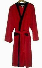 Vera Wang Red Robe Thick Plush size S/M Black Tie Pockets