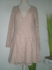 H&M Damen Kleid, Spitzen, alt rosa Gr 38, Neu! TOP!