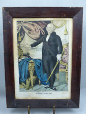 Original Antique J Baillie George Washington Lithograph Print in Period Frame