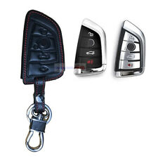 4 Button Holder Leather Remote Fob Bag Car Key Cover Case For BMW X1 X3 X4 X5 X6