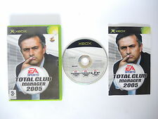 TOTAL CLUB MANAGER 2005 complete in box with manual XBOX videogame PAL