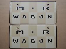 JDM SUZUKI MR WAGON Original Dealer Showroom Display License Plates #1 Pair