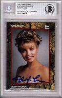 "1991 Twin Peaks SHERYL LEE ""Laura Palmer"" Signed Card BAS Slabbed #00011396576"