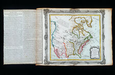 1766 DESNOS: Amazing map of NORTH AMERICA, CANADA, UNITED STATES, USA, TEXAS