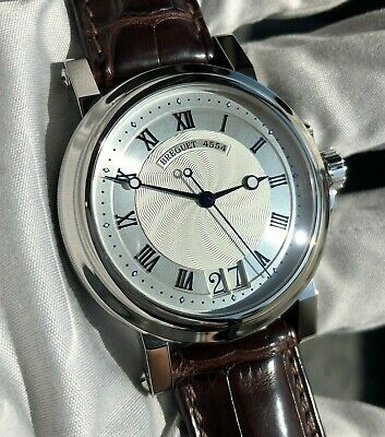 Breguet Marine Automatic Big Date 5817 Silver 39mm Leather on Deployant
