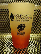 CHARLOTTE KNIGHTS Baseball SGA Community Blood Center FROSTED Beer Pint Glass J