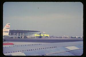 Aircraft at Pan Am Worldport, JFK Airport in 1963, Original Slide aa 14-21b