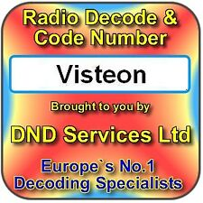 Visteon Radio Code Decode Unlock Service by Serial Number