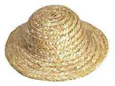 "SET OF 10  STRAW HATS FOR DOLLS HEAD SIZE 9"" CIRCUMFERENCE"