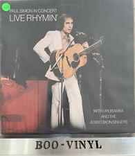 Paul Simon In Concert Live Rhymin Vinyl LP Record CBS 69059 A1/B1 Ex Condition