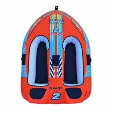 RAVE Sports Tirade II 2 Rider Towable Orange Medium