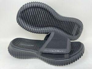 NEW! Skechers Men's ELITE FLEX SHORE RIDGE Slide Sandals Black #51720 141O tz
