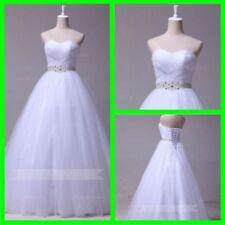 Crystal/Diamante Princess Regular Wedding Dresses