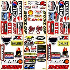 MotoGP Motorcycles Pro Motocross Racing D6204 Lot 6 Graphic Decals Stickers