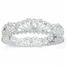 TQA77 Holy White Clear Rhinestone Crystal Alloy Tiara Bridal Wedding Crown